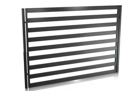 Horganyzott alumínium kerítés panel.